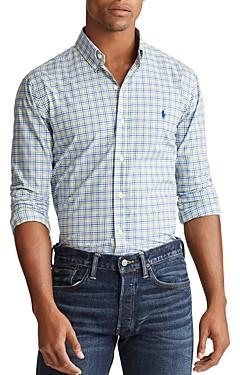 Polo Ralph Lauren Slim Fit Gingham Button-Down Oxford Shirt