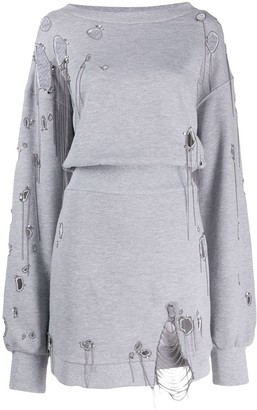 Faith Connexion distressed sweatshirt dress
