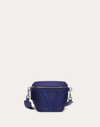 Valentino Garavani Uomo Vlogo Signature Nylon Belt Bag Man Black Polyamide 37%, Polyurethane 31%, Cotton 30%, Acrylic 2% OneSize