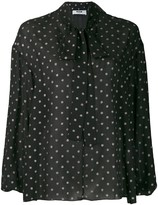 MSGM glitter dotted blouse