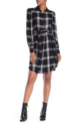 Max Studio Plaid Button Shirt Dress