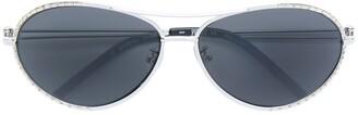 Gianfranco Ferré Pre-Owned Embellished Aviator Sunglasses