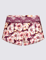 Rosie For Autograph Silk & Lace Printed French Knickers