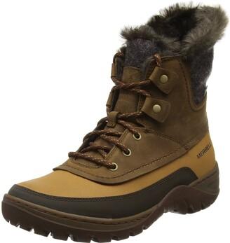 Merrell womens Sylva Mid Lace Waterproof Winter Boot Tan 5 M US