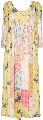LoveShackFancy Roslyn patchwork floral dress