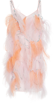 Nina Ricci Ostrich Feather Embroidered Dress