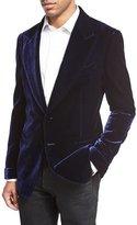 Tom Ford Mr. Ford Peak-Lapel Velvet Evening Jacket, Bright Blue