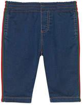 Gucci Denim Leggings with Web Trim, Size 9-36 Months