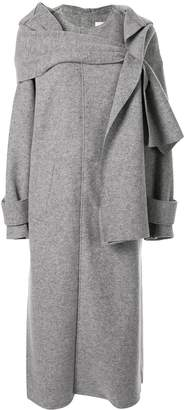 G.V.G.V. jersey scarf coat
