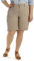 Lee Avey Knit Cargo Bermuda Shorts - Plus