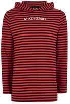 Topman Red And Black Striped 'False Heroes' Hoodie