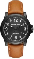 MICHAEL Michael Kors 'Paxton' Leather Strap Watch, 43Mm