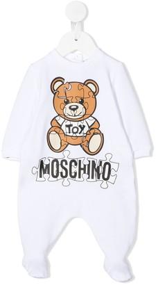 MOSCHINO BAMBINO Teddy Bear logo babygrow