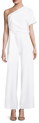 Lucca Couture Asymmetrical One Shoulder Jumpsuit