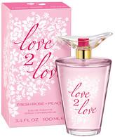 Love2Love Women's Eau de Toilette Spray Fresh Rose + Peach