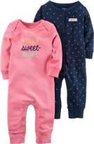 Carter's Baby Girs 2-pk. Sweet Heart Jumpsuits