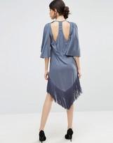 Asos Fringe T- Shirt Midi Dress