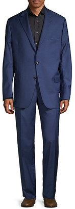 Hickey Freeman Classic Fit Milburn II Notch Lapel Wool Suit
