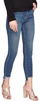 Miss Selfridge Lizzie Step Hem Jeans, Mid Wash Denim
