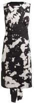 No.21 No. 21 - Tie-dye Open-back Cotton-blend Dress - Womens - Black Print