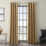 Eff EFF 1-Panel Grommet Blackout Vintage Textured Faux Silk Duponi Window Curtain