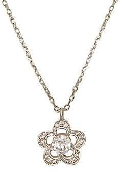 Kate Spade Women's Silvertone & Cubic Zirconia Scalloped Floral Pendant Necklace