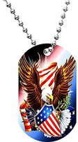 Body Candy American Shield Eagle Dog Tag Necklace