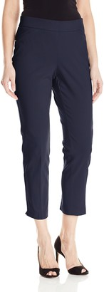 Briggs New York Women's Super Stretch Millennium Slimming Pull-on Ankle Pant Pants