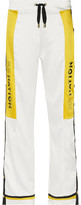 P.E Nation - Enforcer Printed Satin Wide-leg Pants - White