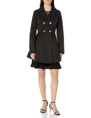 Lark & Ro Amazon Brand Women's Fit and Flare Trench Coat