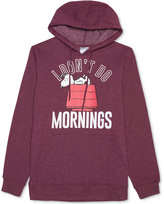 JEM Men's Snoopy I Don't Do Mornings Graphic-Print Hoodie