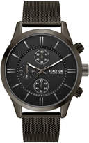 Kenneth Cole Reaction Men's Chronograph Sport Black Stainless Steel Mesh Bracelet Watch 46mm