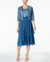 R and M Richards Petite Sequined Dress and Jacket