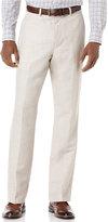 Perry Ellis Men's Big and Tall Linen Blend Herringbone Pants