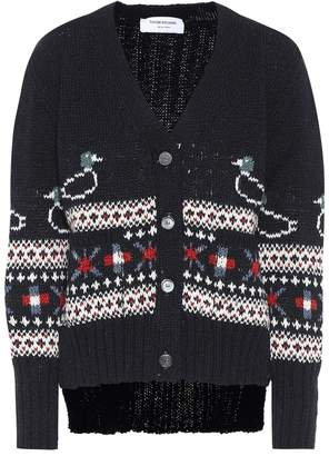 Thom Browne Wool and mohair cardigan