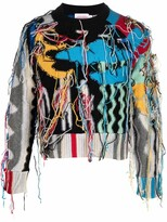 Thumbnail for your product : Charles Jeffrey Loverboy Draped Tassel-Detailed Jumper