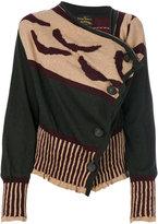 Vivienne Westwood asymmetric patterned cardigan