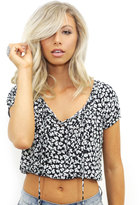 West Coast Wardrobe Girl Next Door Floral Crop Top in Black Floral