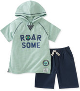 Kids Headquarters 2-Pc. Cotton Roar Some Hoodie & Shorts Set, Baby Boys (0-24 months)