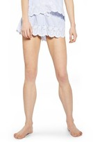 Topshop Women's Embroidered Stripe Pajama Shorts