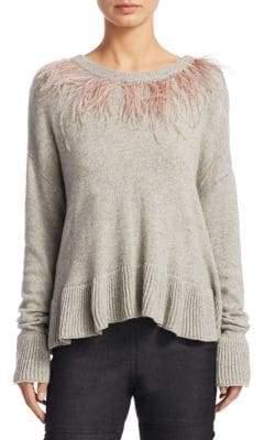 Cinq à Sept Emira Ostrich Feather Sweater