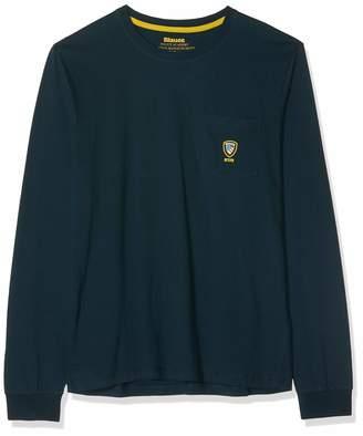 Blauer Men's T-Shirt Manica Lunga Kniited Tank Top