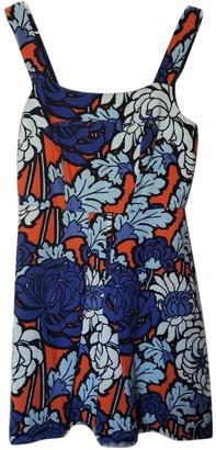 Topshop Tophop Orange Cotton Dress for Women