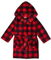 Petit Lem Holiday Plaid Hooded Robe