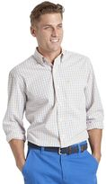 Izod Big & Tall Tattersall-Plaid Button-Down Shirt