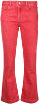 Frame flared cropped jeans - women - Cotton/Polyester/Spandex/Elastane - 25
