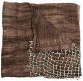 Cutuli Cult - 'Eye' scarf - unisex - Silk/Leather - One Size