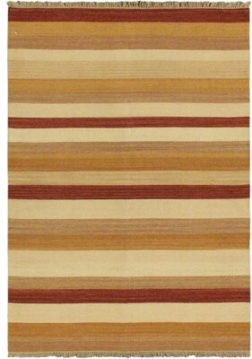Bay Isle Home Vallejo Cream Striped Area Rug