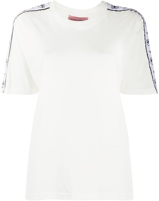 Chiara Ferragni Logo Sleeve Cotton T-Shirt