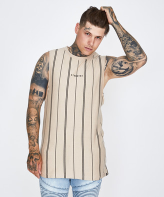 Standard Shadow Stripe Muscle Tee Tan